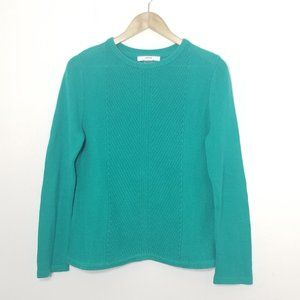 Alia Petite | Teal Green Knit Pullover Sweater Top
